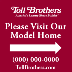 One Sided Model Home Sign